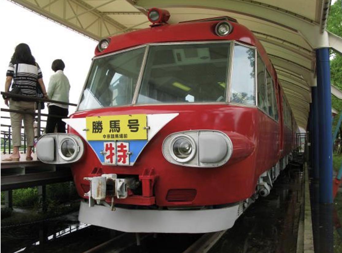 中京競馬場の名鉄パノラマカーの車両