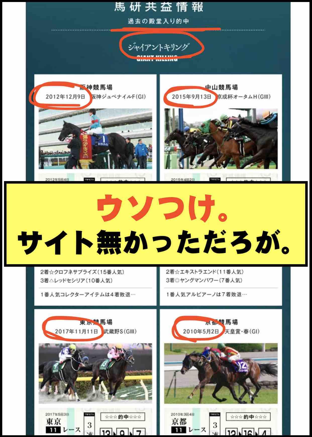 馬研総合戦略機構という競馬予想サイトの的中実績はウソ