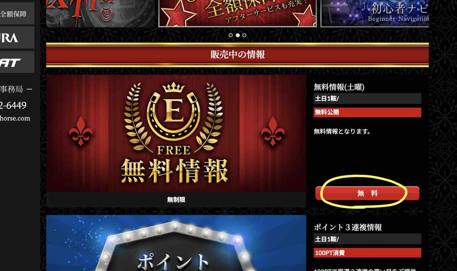 EXTRA(エクストラ)という競馬予想サイトの無料予想(無料情報)を確認する