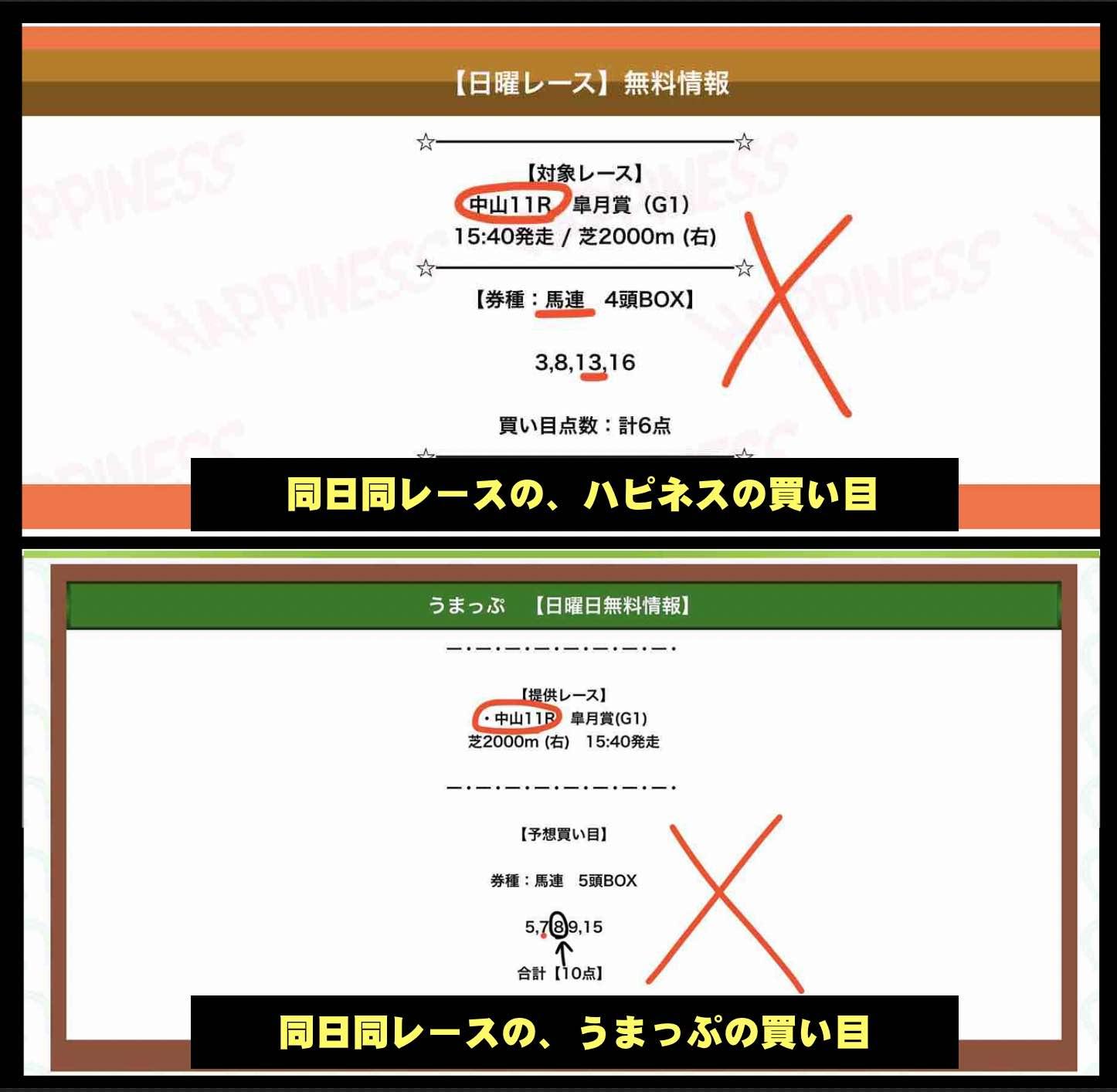 競馬予想サイトのハピネスとうまっぷ